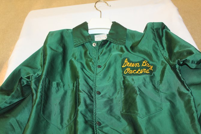 Vince Lombardi's jacket.  The vibrant green didn't always come across in color pictures from the time.