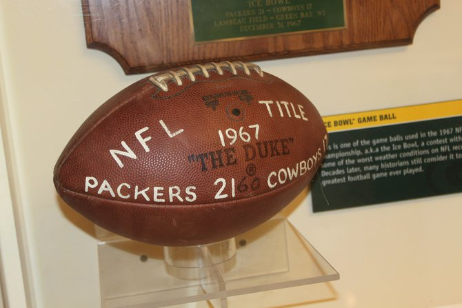 Game ball from the Ice Bowl