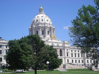 The Minnesota State Capitol in Saint Paul, Minnesota (United States). By Michael Barera (Own work) [CC-BY-SA-3.0 (http://creativecommons.org/licenses/by-sa/3.0) or GFDL (http://www.gnu.org/copyleft/fdl.html)], via Wikimedia Commons