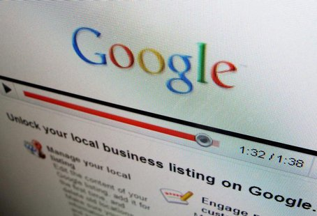 One of the business sites of Internet search engine Google Inc is shown on a computer screen in Encinitas, California April 13, 2010. REUTER