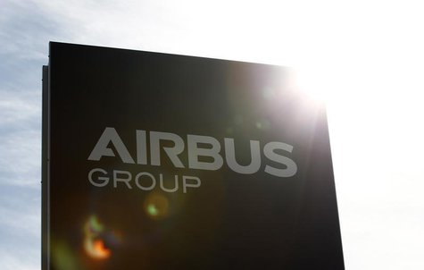 The logo of Airbus Group, Europe's largest aerospace group, is pictured in front of the company headquarters building in Ottobrunn, near Mun