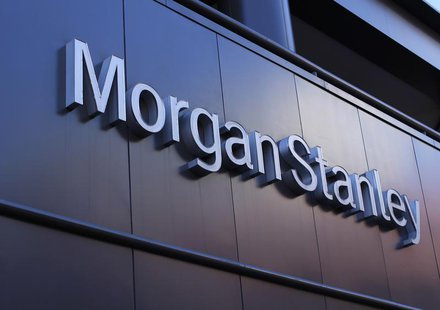The corporate logo of financial firm Morgan Stanley is pictured on a building in San Diego, California September 24, 2013. REUTERS/Mike Blak