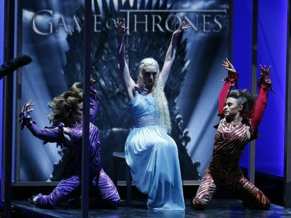 "A dance number is performed in tribute to outstanding drama series nominee ""Game of Thrones"" at the 65th Primetime Emmy Awards in Los Angele"