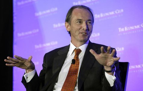 Morgan Stanley CEO James Gorman participates in a conversation-style interview with Economic Club of Washington in Washington September 18,
