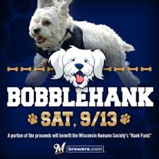 "Milwaukee Brewers ""Bobble Hank"" promotion poster"