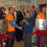 Frederic Ozanam Transitional Shelter ribbon cutting ceremony 3/27/14 in Marshfield, WI.  Photo: Terry Pezl-WSAU
