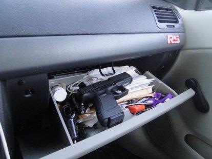 gun in glove box