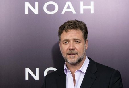 "Cast member Russell Crowe attends the U.S. premiere of ""Noah"" in New York March 26, 2014. REUTERS/Andrew Kelly"
