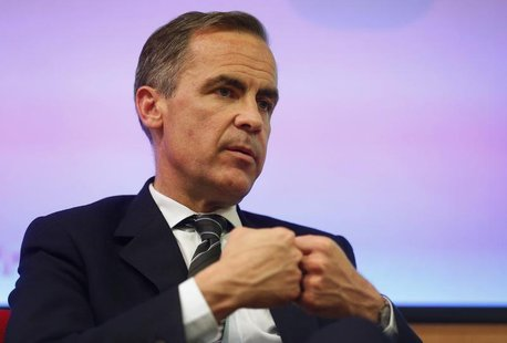 "Bank of England Governor Mark Carney speaks to the audience after his public speech on ""One Mission. One Bank. REUTERS/Sang Tan/Pool"