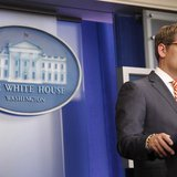White House spokesman Jay Carney answers questions during the daily briefing at the White House in Washington December 12, 2013. REUTERS/Jon