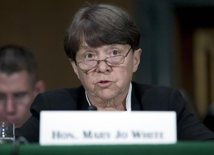SEC Chair Mary Jo White testifies at a Senate Banking, Housing and Urban Affairs Committee hearing on Capitol Hill July 30, 2013. REUTERS/Jo
