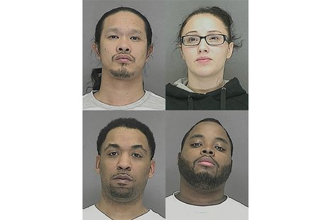 Top Row: Verge Medina and Chelsea Cornette. Bottom Row: Allan Murphy and Marshawn Mackontee. (Photos from: Brown County Jail)