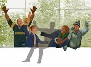 A rending of the Lambeau Leap spot. (Photo from: Green Bay Packers)