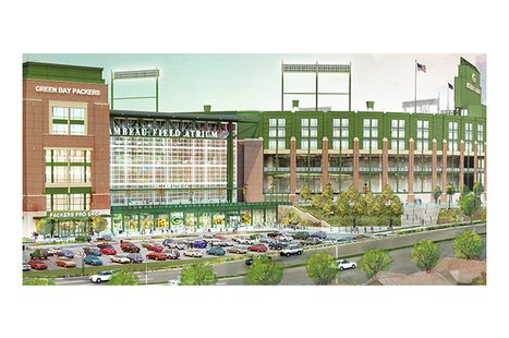 An updated rendering of the changes to Lambeau Field. (Photo from: Green Bay Packers)