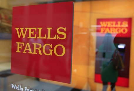 A Wells Fargo sign is seen outside a banking branch in New York July 13, 2012. REUTERS/Shannon Stapleton