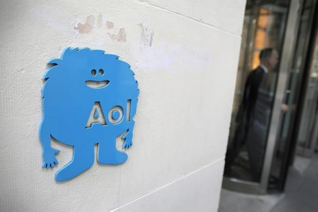 The AOL logo is seen at the company's office in New York November 5, 2013.REUTERS/Andrew Kelly