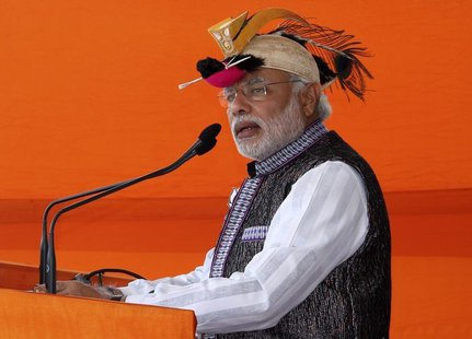 Hindu nationalist Narendra Modi, prime ministerial candidate for main opposition Bharatiya Janata Party (BJP) and Gujarat's chief minister,
