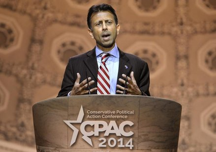 Louisiana Gov. Bobby Jindal makes remarks to the Conservative Political Action Conference (CPAC) in Oxon Hill, Maryland, March 6, 2014. REUT