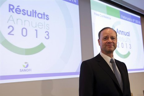 Chris Viehbacher, Chief Executive Officer of Sanofi, poses prior to the company's 2013 annual results press conference in Paris, February 6,