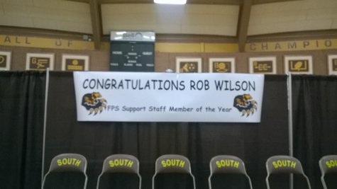 "Rob Wilson receives first ever Fargo Public School District ""Support Staff of the Year"" award"