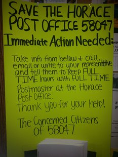 Save Horace Post Office poster