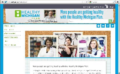 Healthy Michigan web page
