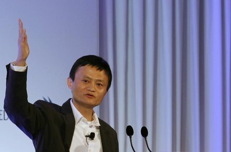 Jack Ma, the chairman of China's largest e-commerce firm Alibaba Group, speaks during a conference in Hong Kong March 20, 2013. REUTERS/Bobb