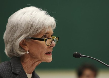 "U.S. Health and Human Services Secretary Kathleen Sebelius testifies before the House Energy and Commerce Health Subcommittee on ""Patient Pr"