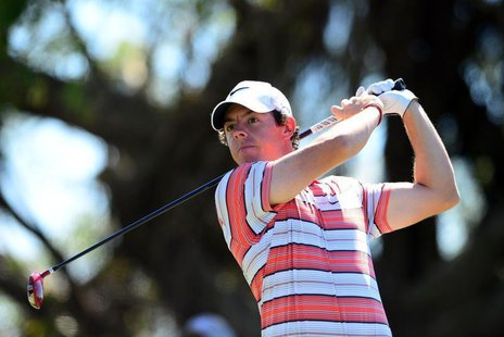 Mar 8, 2014; Miami, FL, USA; ?Rory McIlroy tees off from the 5th hole during the third round of the WGC - Cadillac Championship golf tournam