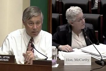 Congressman Upton questions the EPA director on their plans for the Allied Paper dump clean-up.