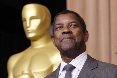 "Denzel Washington, nominated for best actor for his role in ""Flight"", arrives at the 85th Academy Awards nominees luncheon in Beverly Hills,"