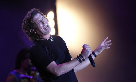 Colombian singer and composer Carlos Vives performs during the 55th International Song Festival in Vina del Mar city, about 121km (75 miles)