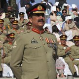 Pakistan's newly appointed army chief General Raheel Sharif attends the change of command ceremony in with outgoing army chief General Ashfa