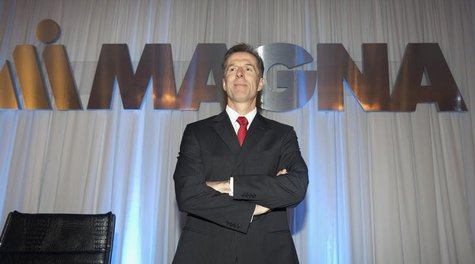 Chief Executive Officer for Magna International Inc. Donald Walker waits for the annual general meeting to start in Toronto May 10, 2012. RE