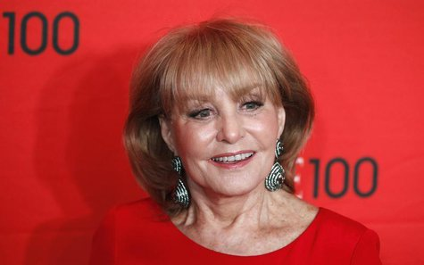 Television personality Barbara Walters arrives at the Time 100 Gala in New York, April 24, 2012. REUTERS/Lucas Jackson