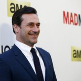 "Cast member Jon Hamm poses at the premiere for the seventh season of the television series ""Mad Men"" in Los Angeles, California April 2, 201"