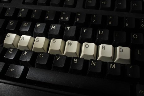 A computer keyboard with letters stacked forming the word 'password' is seen in this illustration picture taken in Warsaw, December 12, 2013