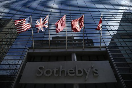 General view of the Sotheby's building in New York, February 14, 2014. REUTERS/Eduardo Munoz