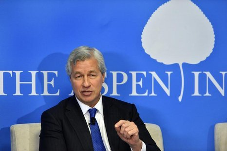 "JPMorgan Chase Chairman and CEO Jamie Dimon speaks during a discussion on ""Closing the Workforce Skills Gap"" at the Aspen Institute in Washi"
