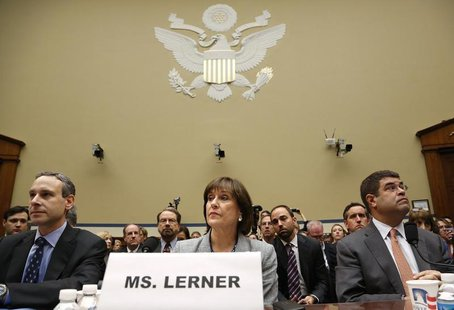 Former U.S. Internal Revenue Service Commissioner Douglas Shulman (L-R), IRS Director of Exempt Organizations Lois Lerner and U.S. Deputy Tr