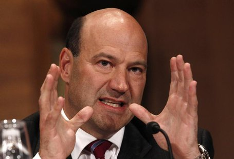 Goldman Sachs Chief Operating Officer Gary Cohn testifies before the Financial Crisis Inquiry Commission (FCIC) on Capitol Hill in Washingto