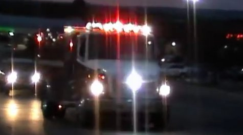 Fire truck responds to scene (Photo from: YouTube).