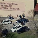 Outside of Franklin Regional High School in Murrysville, Pennsylvania, April 9, 2014 REUTERS/WPXI