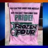 UND Frozen Four sorority banner