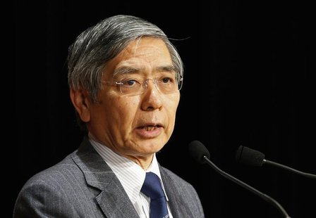 Bank of Japan Governor Haruhiko Kuroda speaks during a seminar in Tokyo March 20, 2014. REUTERS/Yuya Shino