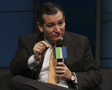 U.S. Senator Ted Cruz (R-TX) speaks during the fifth annual Washington Ideas Forum at the Newseum in Washington November 14, 2013. REUTERS/G