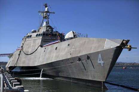 The United States littoral combat ship USS Coronado is shown during a media tour in Coronado, California April 3, 2014. The ship will be com
