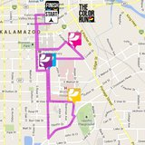The route of this year's Color Run in Kalamazoo.