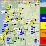 State of Michigan fire risk map for south west Michigan.