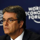 World Trade Organization (WTO) Director-General Roberto Azevedo attends a session at the World Economic Forum (WEF) in Davos January 25, 201